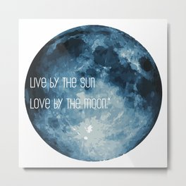 Love By The Moon Metal Print
