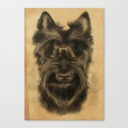 MR. SCHNAUZER Canvas Print
