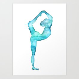 The lord of the dance yoga Art Print