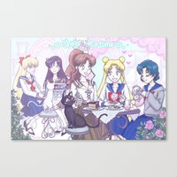 enerjax Canvas Prints featuring Sailor Tea Time by enerjax