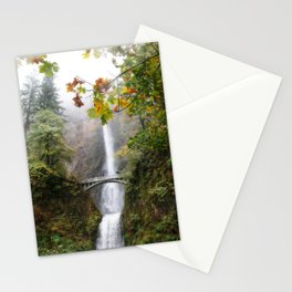 Autumn at Multnomah Falls Stationery Cards