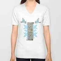 fairy tale V-neck T-shirts featuring Fairy Tale by VirgoSpice