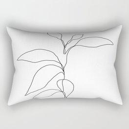 Single line plant drawing - Danya Rectangular Pillow