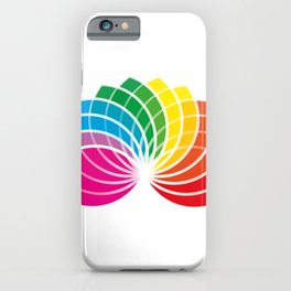 hand fan gay flag color iPhone Case