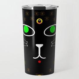 Dark Night with dark cats Travel Mug