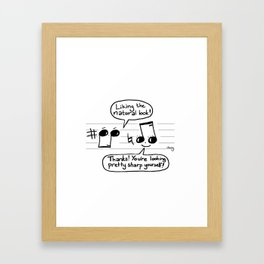 Musical Compliments Framed Art Print