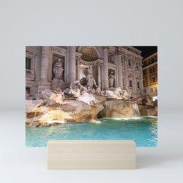 Trevi Fountain at night - Rome, Italy Mini Art Print