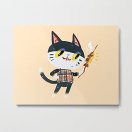 Animal Crossing Punchy Metal Print