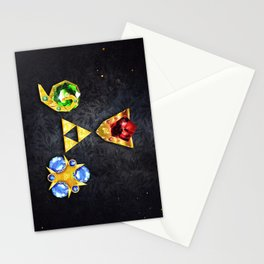 The Timeless Legend of Zelda Inspired Spiritual Stones Stationery Cards