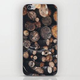 Ōboke woodpile iPhone Skin