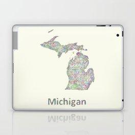 Michigan map Laptop & iPad Skin