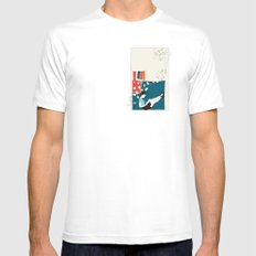 Sitting White MEDIUM Mens Fitted Tee