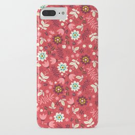 Fresh Blossoms (Reds) iPhone Case