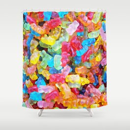 Gummy Bear Don't Care Shower Curtain
