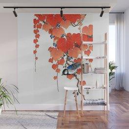 "Ohara Koson,""Bird & Red Ivy"" Wall Mural"