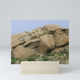 Rock Face In Simi Valley Mini Art Print