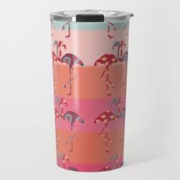 Ombre Pink Flamingos  Travel Mug