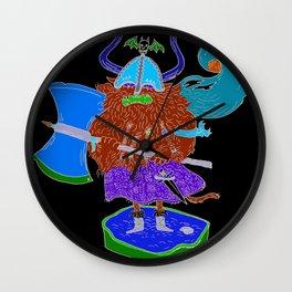 Viking Cat Wall Clock