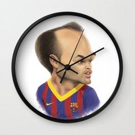 Andres Iniesta - Barcelona Wall Clock