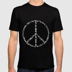 Music peace - inverted MEDIUM Mens Fitted Tee Black