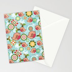 Xmas Robins Stationery Cards