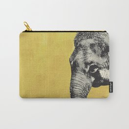 Elephant on yellow Carry-All Pouch