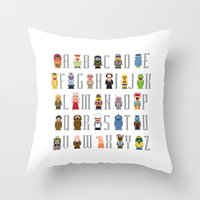muppet Throw Pillows featuring Pixel Muppet Show Alphabet by PixelPower