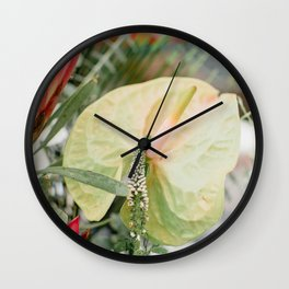 Flower Photography by Chandra Oh Wall Clock