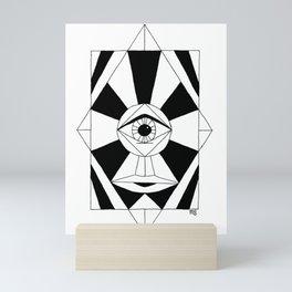 Diamond Face Mini Art Print