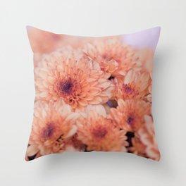 Chrysanthemum flowers 8605 Throw Pillow