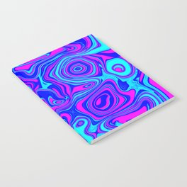 Liquid Color Pink and Blue Notebook