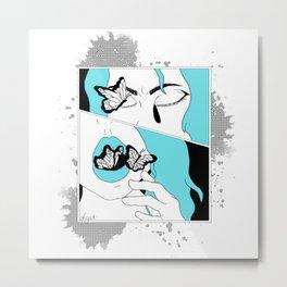 Black butterflies Metal Print