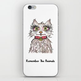 Remember The Animals Cute Cat T-Shirt iPhone Skin