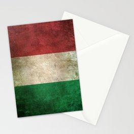 Old and Worn Distressed Vintage Flag of Italy Stationery Cards