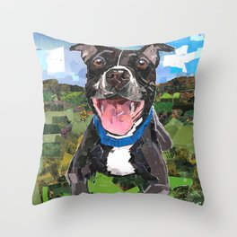Sparky For Chicago Canine Rescue Throw Pillow