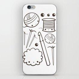 crochet cute - kawaii craft supplies iPhone Skin