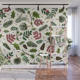 Winter Foliage Wall Mural