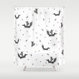 Two foxes Shower Curtain