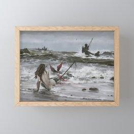 The last mermaid of the northern seas Framed Mini Art Print