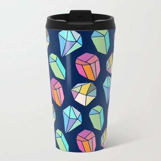 Colorful diamonds Pattern Metal Travel Mug