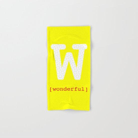 #W [wonderful] Hand & Bath Towel