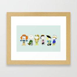 Mutant Superhero Friends Framed Art Print
