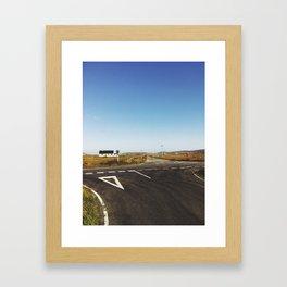 Cross Roads on S. Uist Framed Art Print