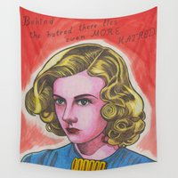 ginger Wall Tapestries featuring Ginger by Anna Gogoleva