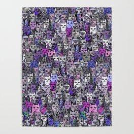 Ultraviolet Gemstone Cats Poster