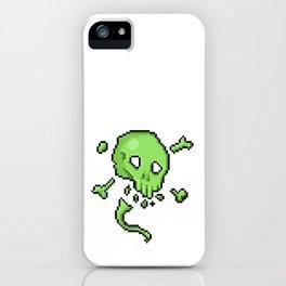 Retro Pixel : Poison Skull iPhone Case