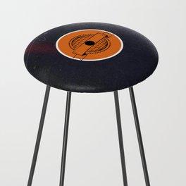 Vinyl Record Art & Design   World Post Counter Stool