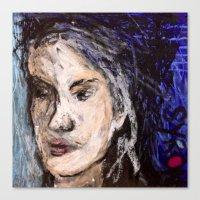 indigo Canvas Prints featuring Indigo by Helen Syron