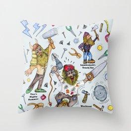 Men of Tools Throw Pillow