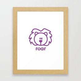 Lion : roar Framed Art Print